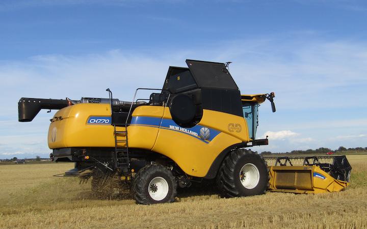 New Holland CH7.70 conCrossover Harvesting™ al lavoro a Linarolo (Pv)