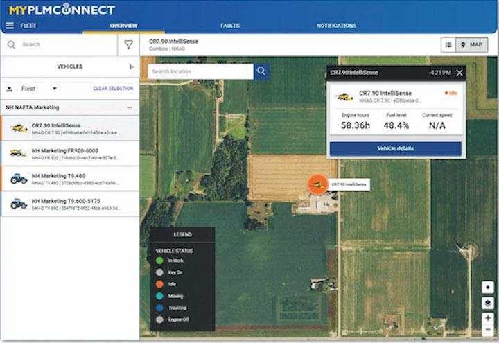 Controllo della flotta con MyPLM ConnectEssential di New Holland