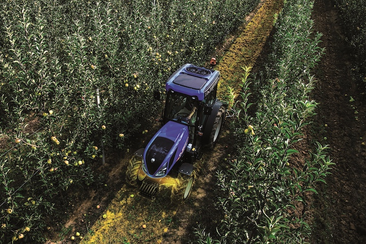 New Holland T4.110N in un meleto