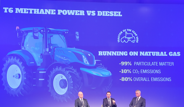 Riduzione di PM e di emissioni con New Holland T6 Methane Power