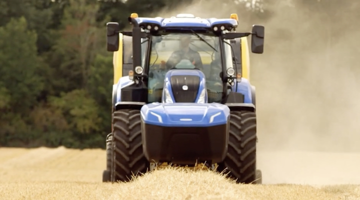New Holland T6.180 Methane Power in campo