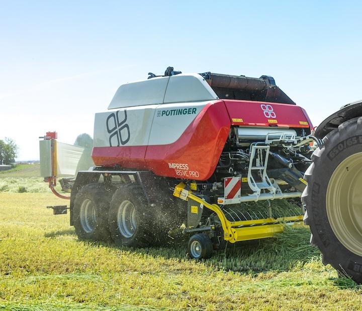 Pöttinger Impress 185 VC Pro con nuova unità di legatura