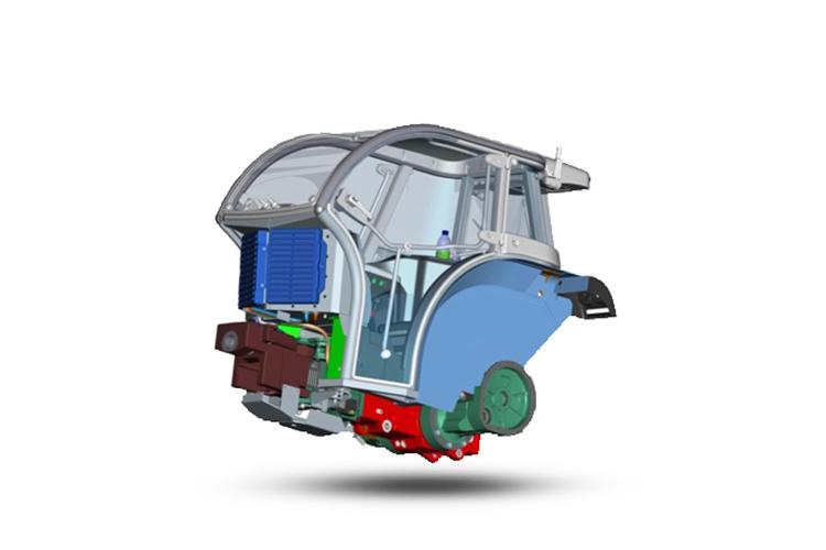 Anche il telaio della nuova cabina BCS è stato minuziosamente studiato per offrire la miglior vivibilità nel minor spazio possibile