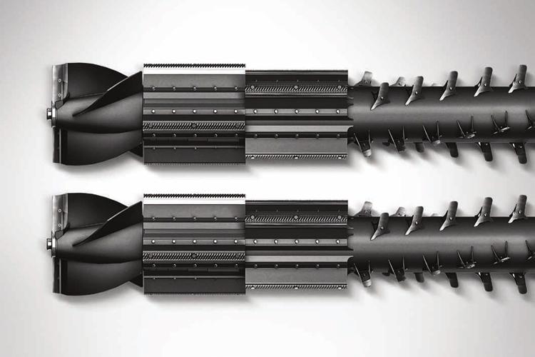 Helix: così è chiamato il sistema di trebbiatura della nuova Ideal, che prevede due rotori sui modelli più potenti e un rotore singolo sul modello più piccolo