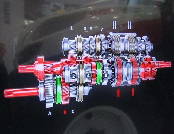 Trasmissione Powershift S-Control™ 8, disponibile sui modelli Steyr Profi Multicontroller