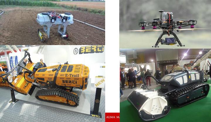 Esempi di macchine agricole piccole e intelligenti