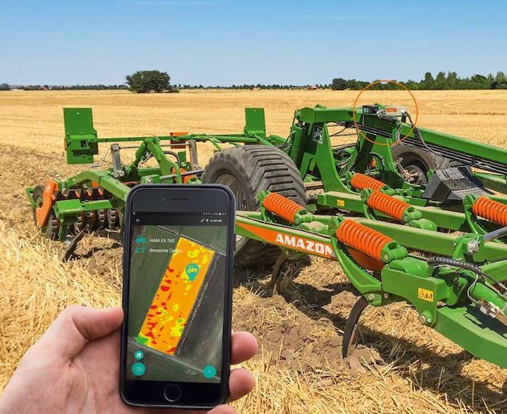 Sistema AmazoneZone Finder, montato sul coltivatoreCenius-TX