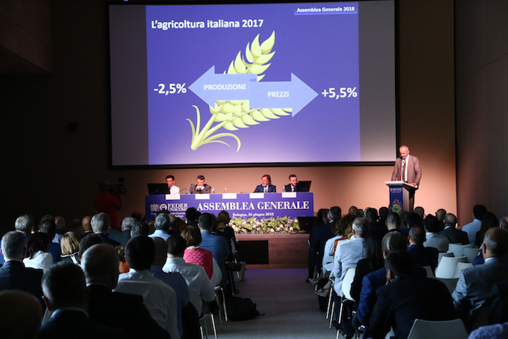 Un momento dell'Assemblea generale FederUnacoma 2018 interna a Fico