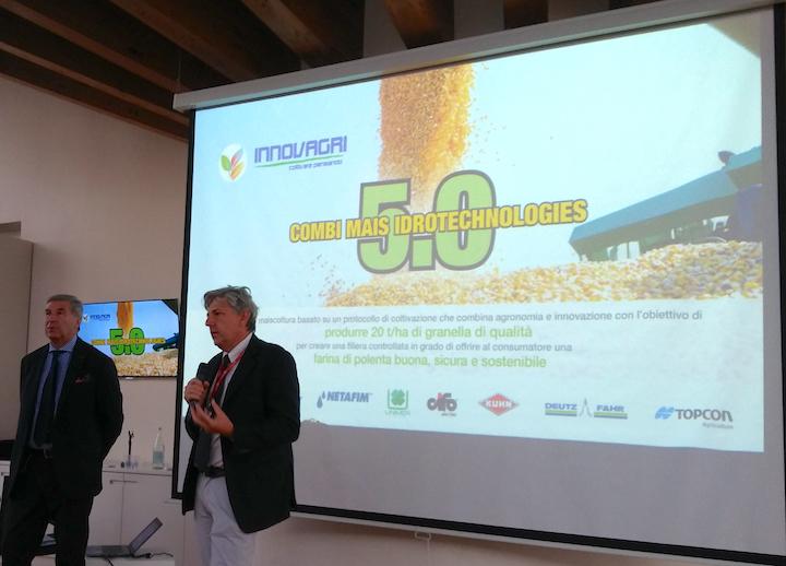 Mario Vigo e Gabriele Nicotra alla presentazione di Combi Mais Idrotechnologies 5.0