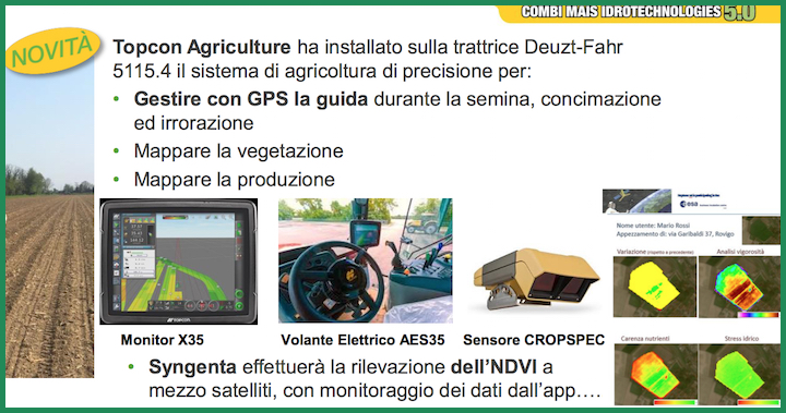 Sistema Topcon Agriculture per il precision farming, novità di Combi Mais 5.0