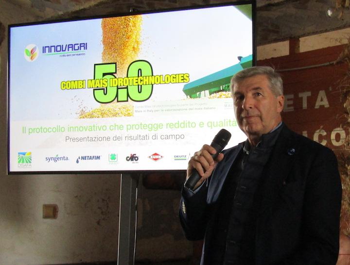 Mario Vigo, presidente di Innovagri ed ideatore del progetto Combi Mais