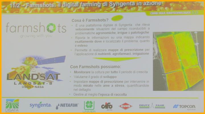 Piattaforma Syngenta Farmshots tra le novità di Combi Mais 6.0. Clicca sull'immagine per ingrandirla