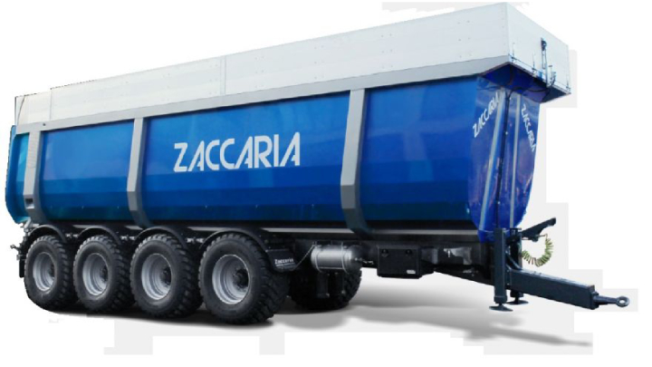 Il dumper a quattro assi conforme alla Mother Regulation di Zaccaria