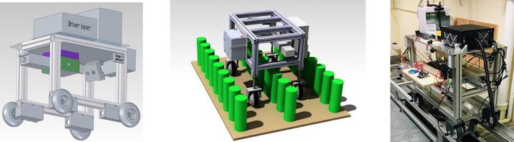 Primo prototipo di robot del progettoGreenShield