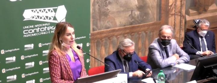 Da sinistra: Maria Spena, Donato Rossi di Confagricoltura, Aproniano Tassinari di Uncai e Francesco Postorino di Confagricoltura