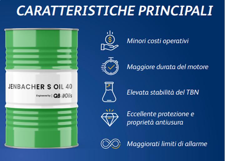 Caratteristiche dell'olio Jenbacher S Oil 40
