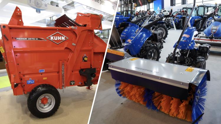 Impagliatore KUHN Primor 3570 e motofalciatrice BCS PowerSafe