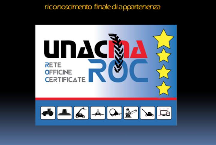 Riconoscimento finale di appartenenza ad Unacma Roc