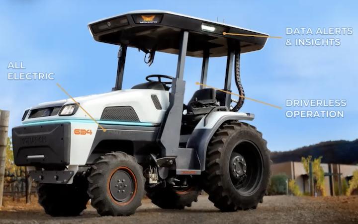 Trattore autonomo634 di Monarch Tractor