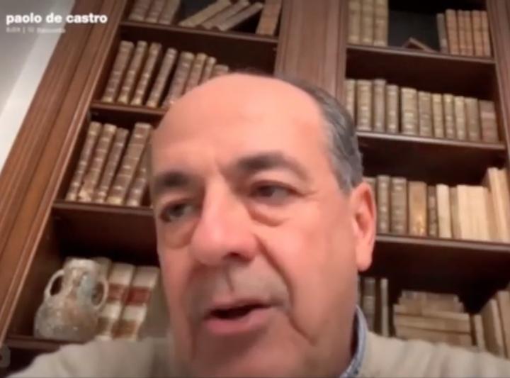 Paolo De Castro durante il webinar di Image Line
