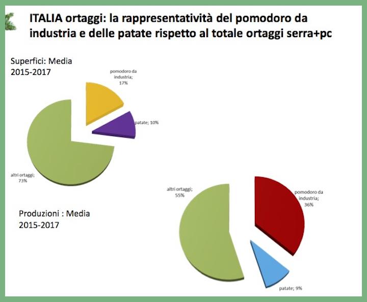 Pomodoro da industria e patata, colture dominanti la produzione orticola in Italia (Fonte: © CSO Italy)