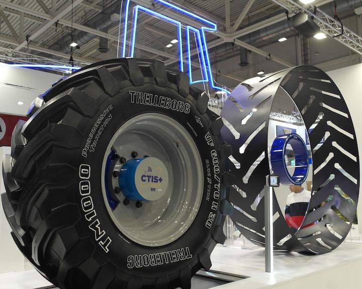 Sistema Trelleborg CTIS+ esposto ad Agritechnica 2019