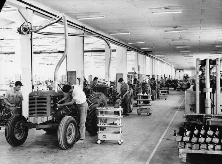 Linea di produzione di trattori Valtra