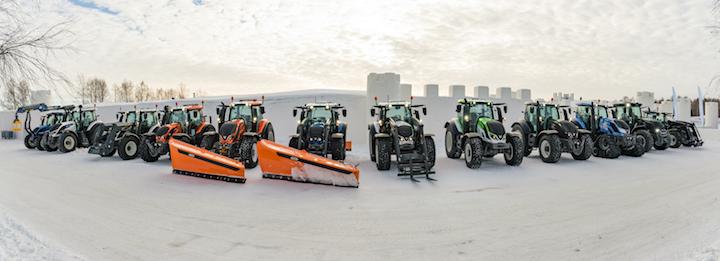 Macchine agricole sul ghiaccio