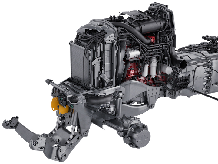 Motore AGCO Power Stage V e assale anteriore con sospensione pneumatica Aires sui Valtra N174-N154-N134