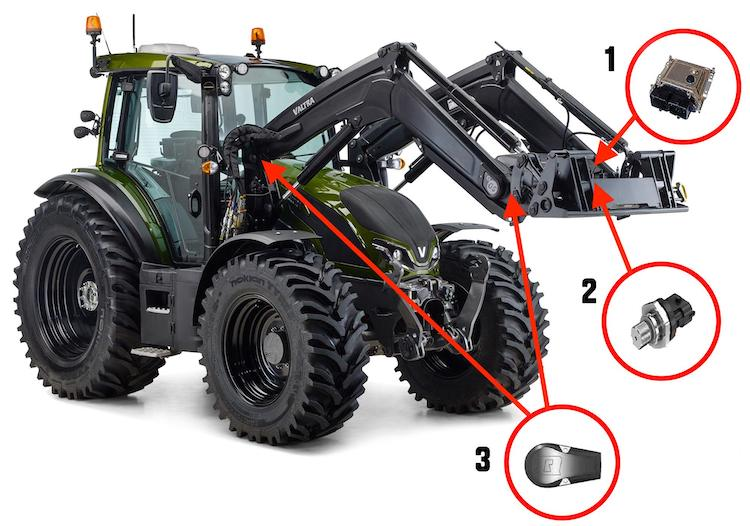 Nuovo front loader control system Valtra