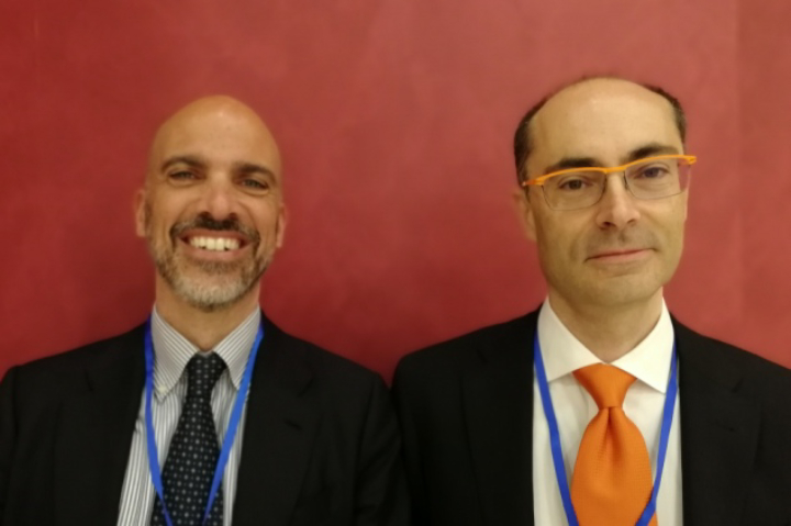Filippo Setteceli, vice president Supply Chain & Quality di Trelleborg Wheel Systems (a sinsitra) e Paolo Fontanot, product manager di Tecnest (a destra)