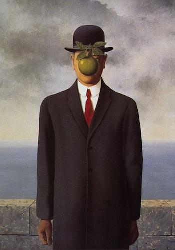 Arte scienza e religione la mela oltre l 39 agricoltura - Magritte uomo allo specchio ...
