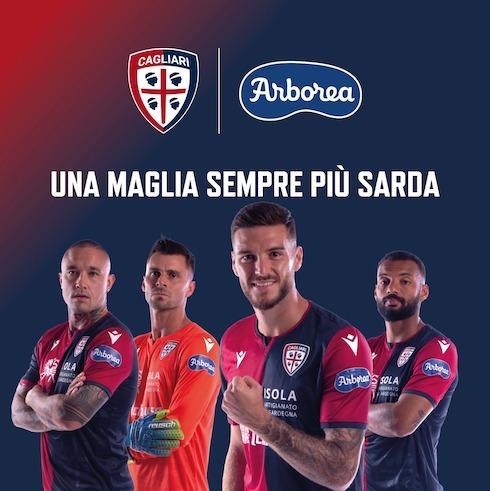 Sponsor Arborea su maglie Cagliari Calcio