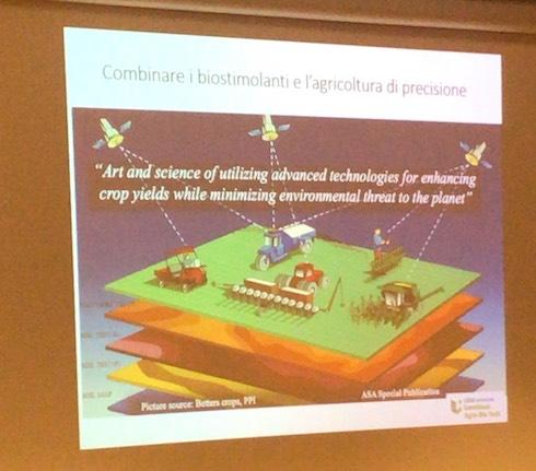Fra i temi trattati nel convegno, anche la sinergia fra biostimolanti e agricoltura di precisione (Fonte foto: Patrick Du Jardin)