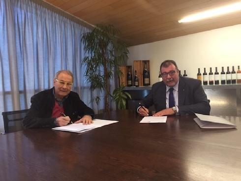 Da sinistra: Sandro Boscaini, presidente Federvini e Luca Rigotti, coordinatore settore vino Alleanza cooperative