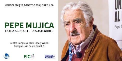 Locandina dell'evento con Pepe Mujica