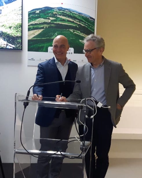 Firma accordo Vaccaro-Rabboni
