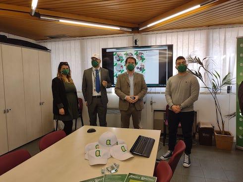 Da sinistra Ginevra Catamo, Marco Casali, videdirettore Confagricoltura Bologna, Marco Caliceti, vicepresidente Confagricoltura Bologna e Piero Serra