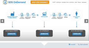 Home Page di Sds OnDemand