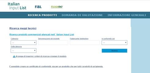 Italian input list: la ricerca